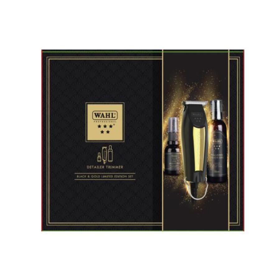 Wahl Detailer Trimmer T-Wide 32mm - Schwarz & Gold Limited Edition Set