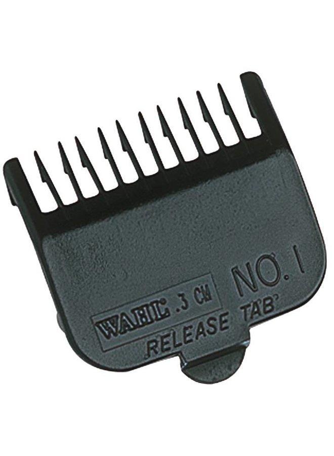 Wahl Opzetkamset Type 1 - Plastic Zwart #1-8