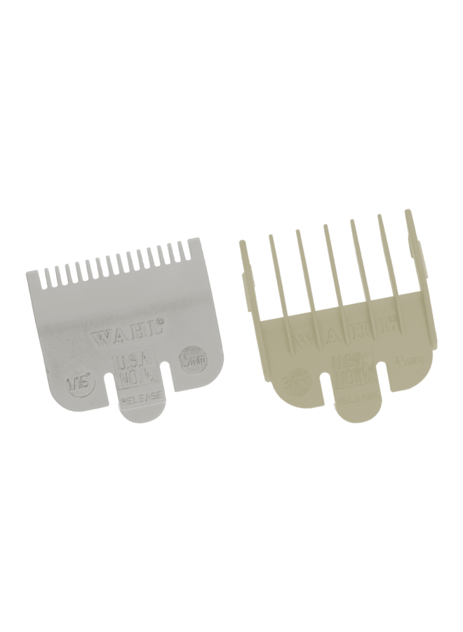 WAHL Attachment Combs Set Type 1 - Plastic Coloured #½ (1½mm) + #1½ (4½mm)