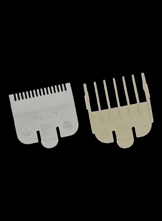 Wahl Opzetkamset Type 1 - Plastic Gekleurd #½ (1½mm) + #1½ (4½mm)