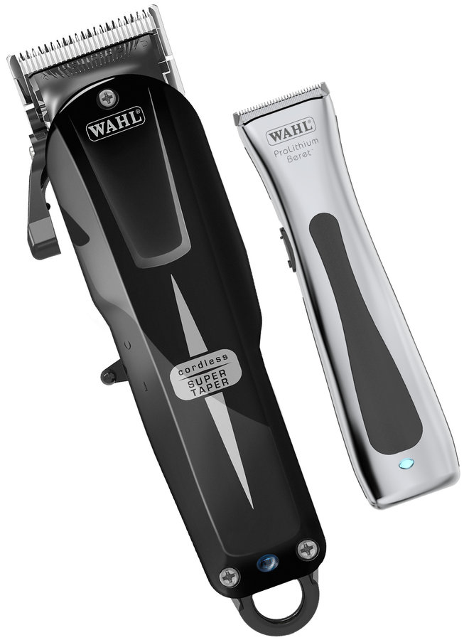 Wahl Cordless Combo Combipack Super Taper Cordless Black + Beret Chrome Trimmer