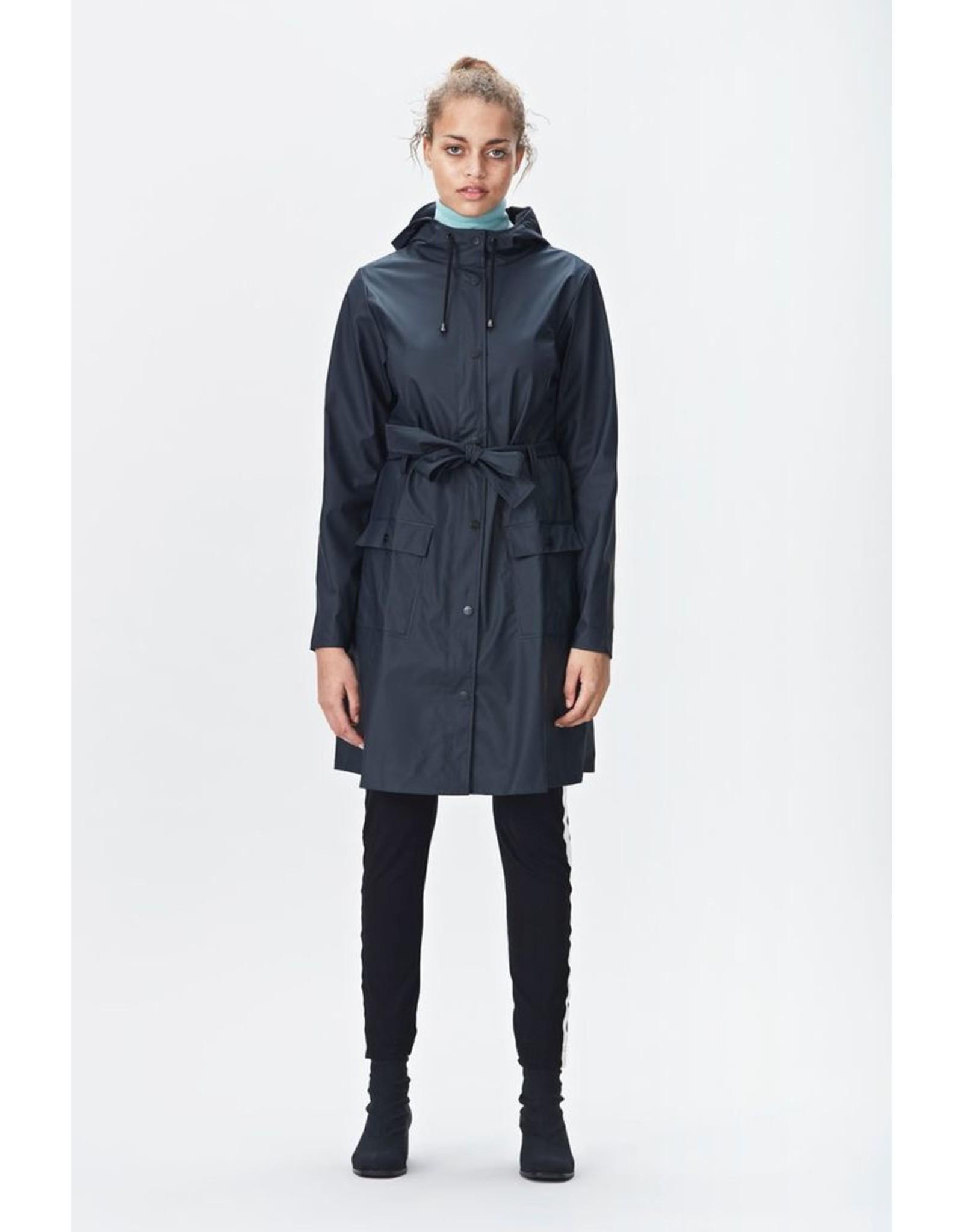 Rains Women's Waterproof Curve Jacket