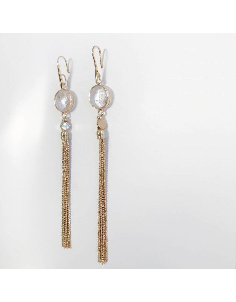 Bcharmd Sofia White Quartz Earrings - One Size Fits All