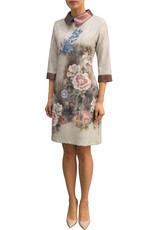 Fee G Fee g - Flower Placement Dress Leatherette Collar
