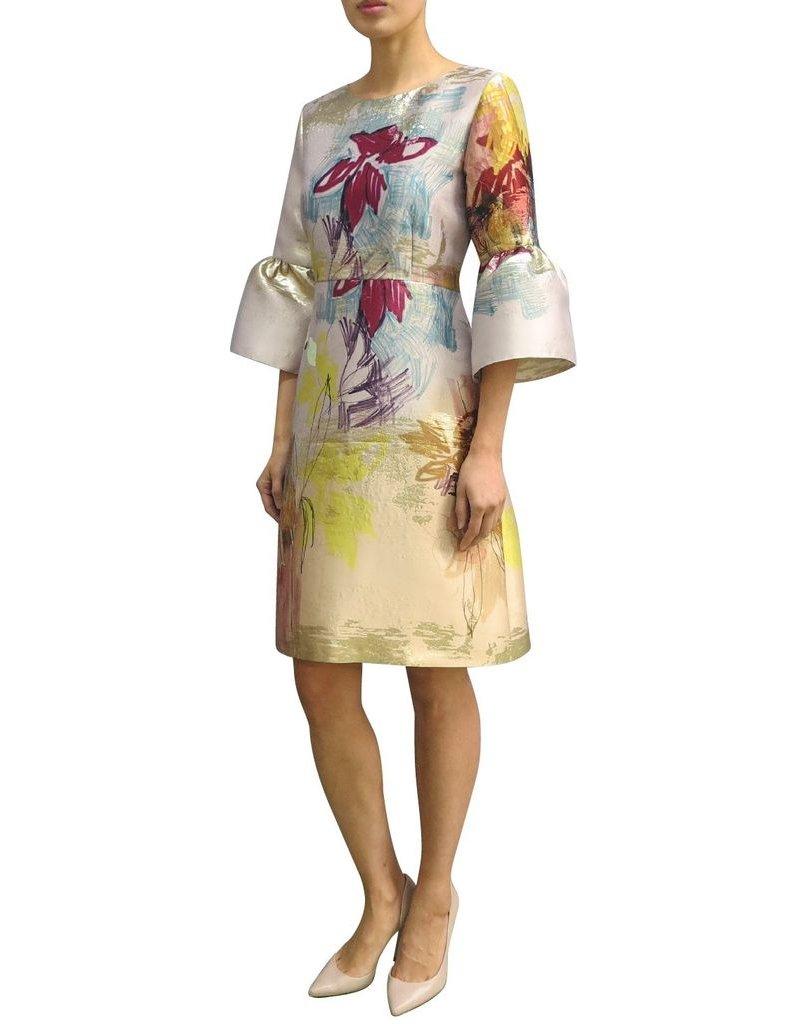 Fee G Fee g - Flower sketch Puff Sleeve Dress