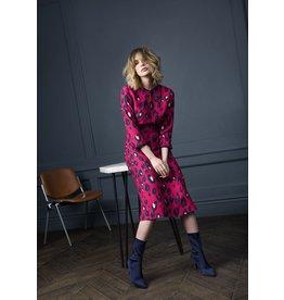 Fee G Long Sleeve Animal Print, Cut Back Dress