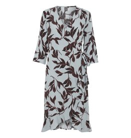ICHI Blues Wrap Print Dress