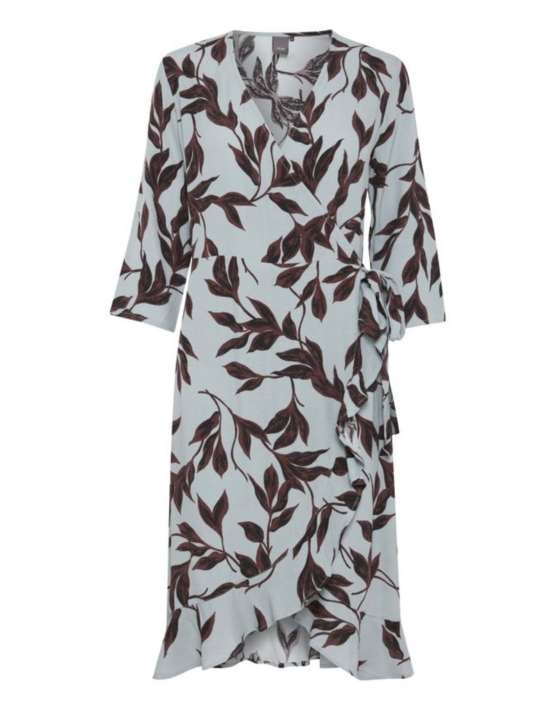 ICHI Ichi - Blues Wrap Print Dress
