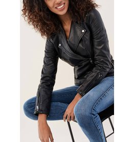 Salsa Jeans Leather Jacket with Details