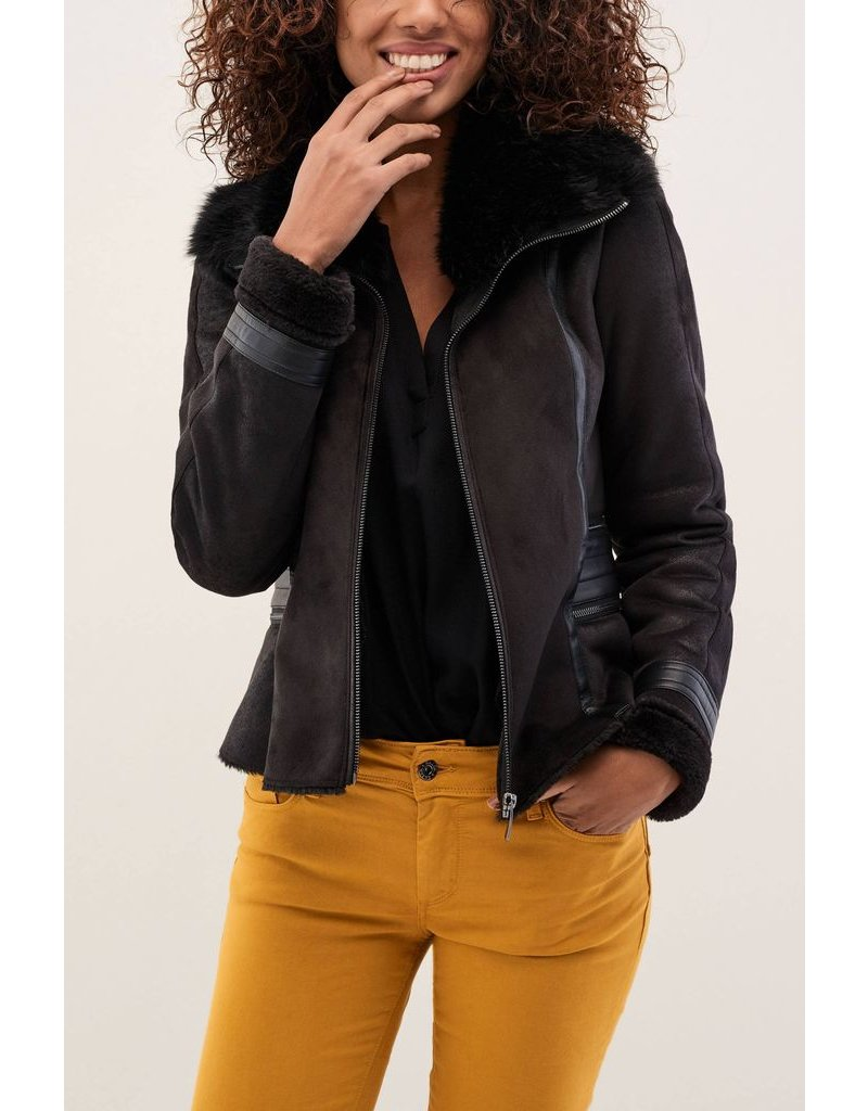 Salsa Jeans Salsa Jeans - Jacket with Fur & Zip