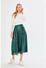Exquise Bottle Green Pleat Skirt