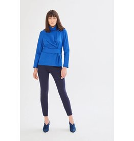 Exquise Blue High Neck Top