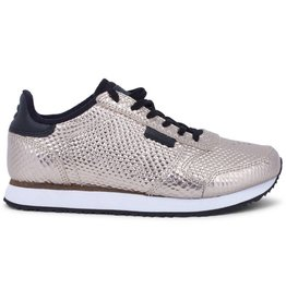 Woden Ydun Metallic Leather Trainers