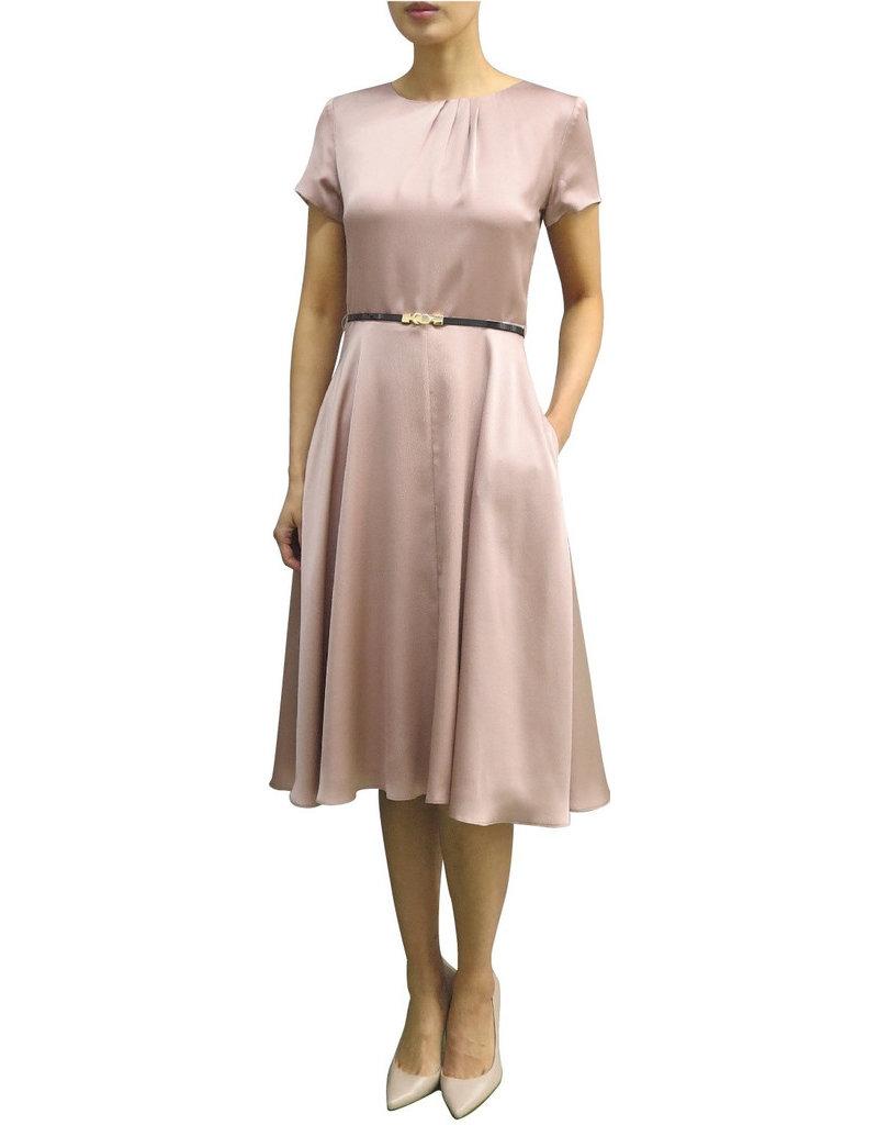 Fee G Side Gather Silk Dress