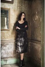 Peruzzi Jersey & Printed Chiffon  Dress