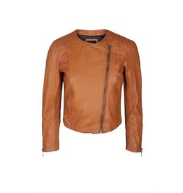 Mos Mosh Cognac Leather Jacket