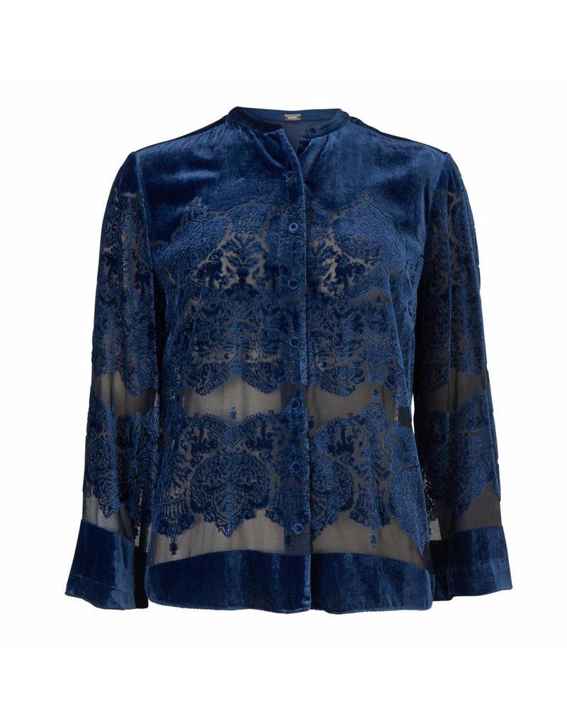 Gustav Denmark Blue Velvet Top