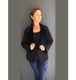 Peruzzi Black Faux Fur lined Jacket