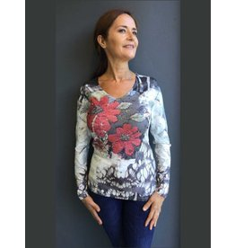 Peruzzi Large Flower Print Top