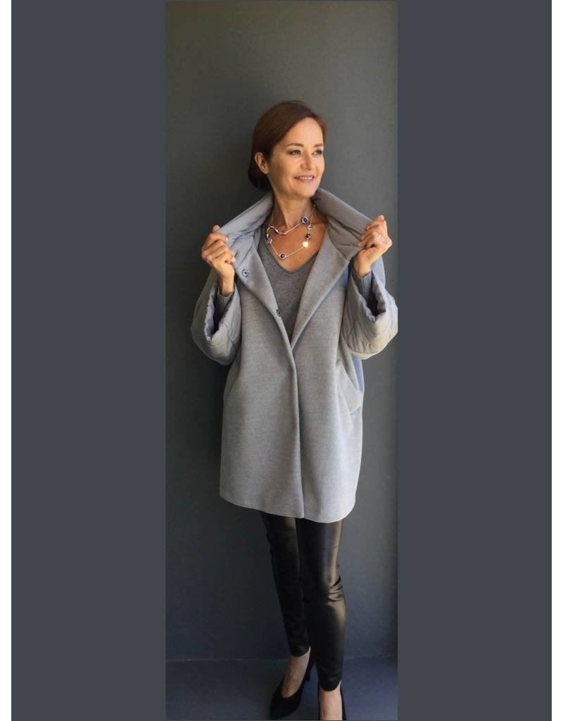 Peruzzi 3/4 Length Grey Coat