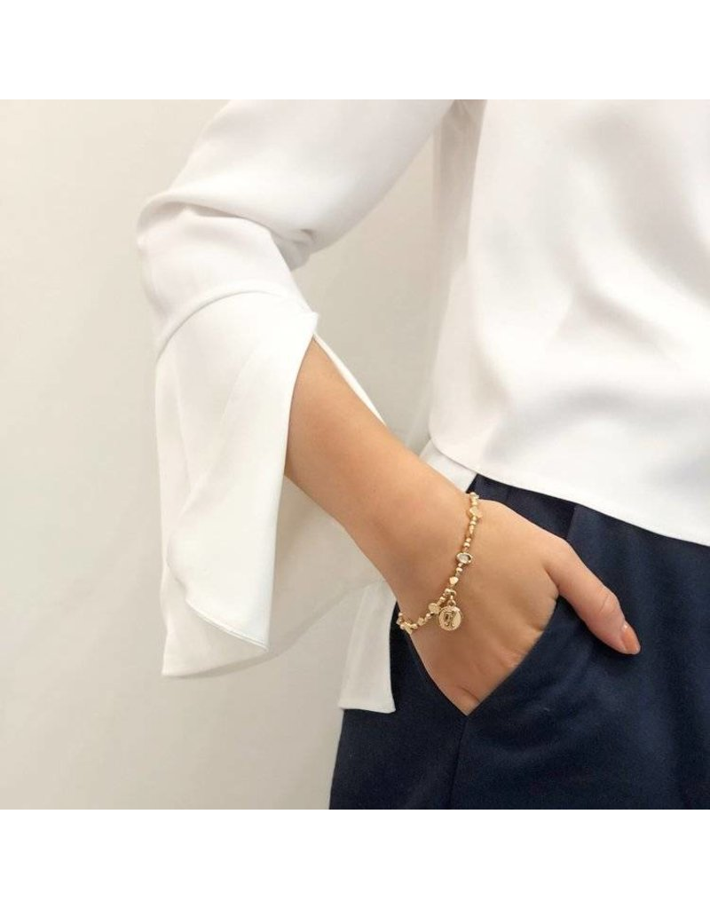 Bcharmd Shelley Bracelet with Real Gold Elements