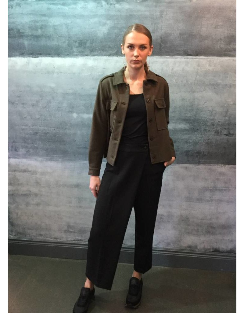 Humility Black Crop Culotte Style Trousers