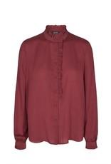 Mos Mosh Frida Shirt in Syrah Red