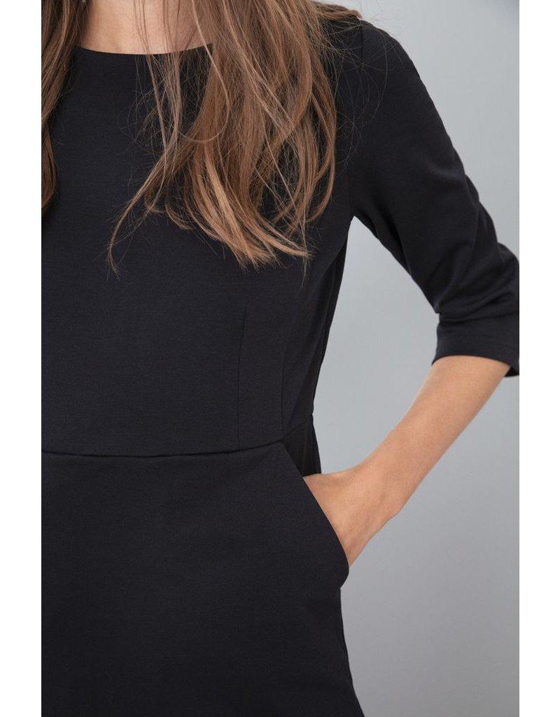 ICHI Kate Slim Black Dress