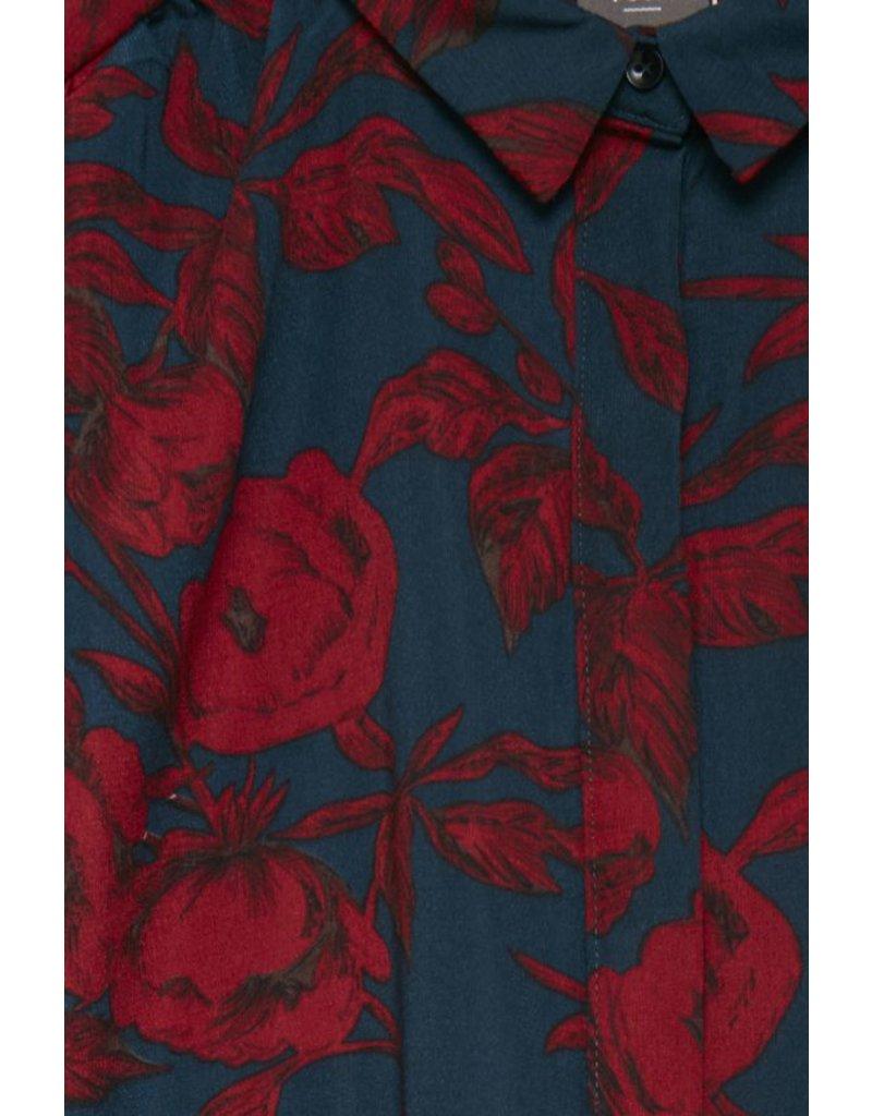 ICHI Rose Floral Print Shirt