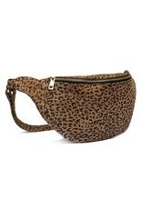 Depeche Leopard Print Suede Bum Bag