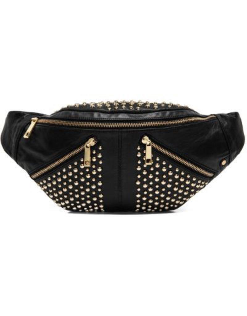 Depeche Bum bag with gold Stud Detailing