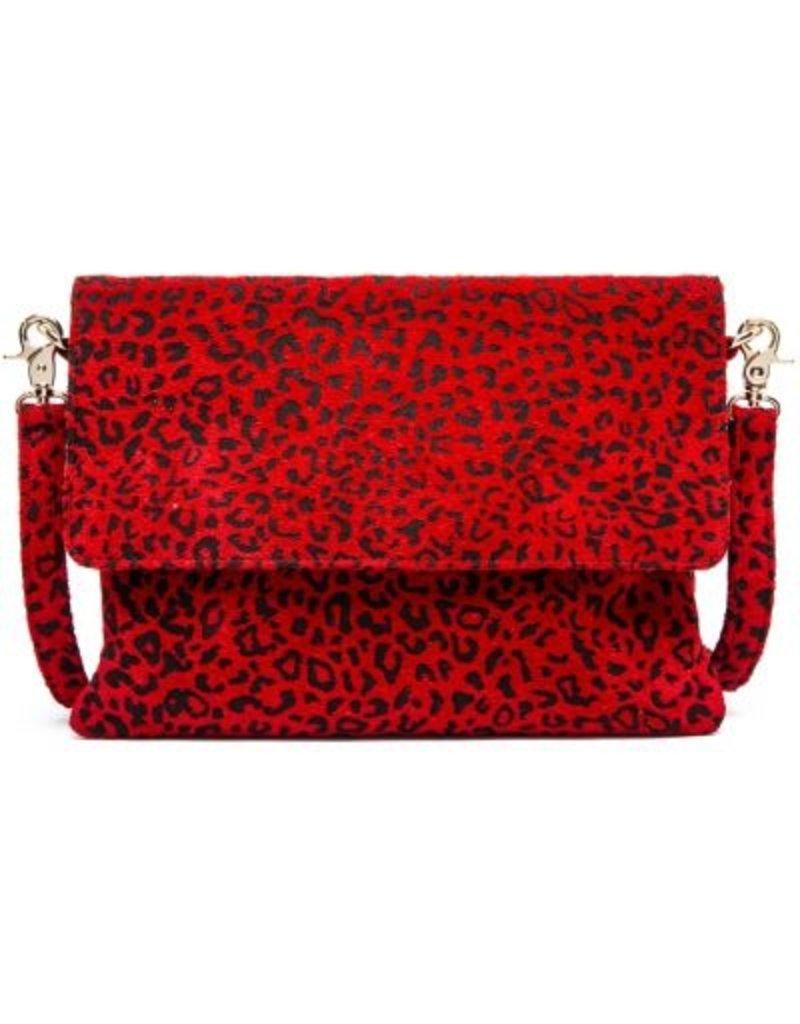 7ab312cd2b34 Depeche - Red Leopard Print Clutch bag - Style 13518 - Escape Boutique