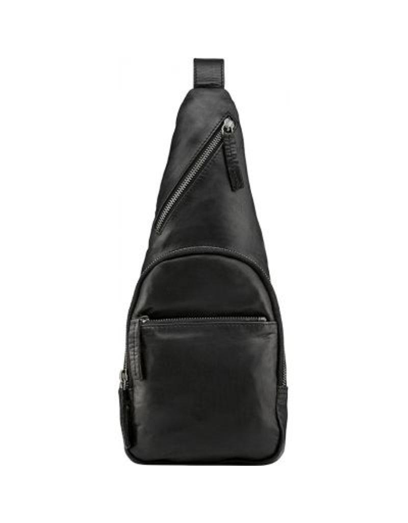 Depeche Black Cross body bum bag