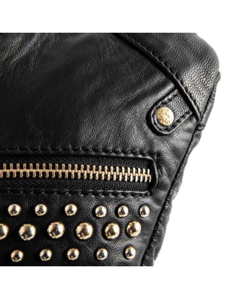 Depeche Black Bum Bag with Gold Detailing