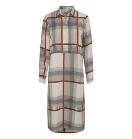 ICHI Nassa Check Shirt Dress