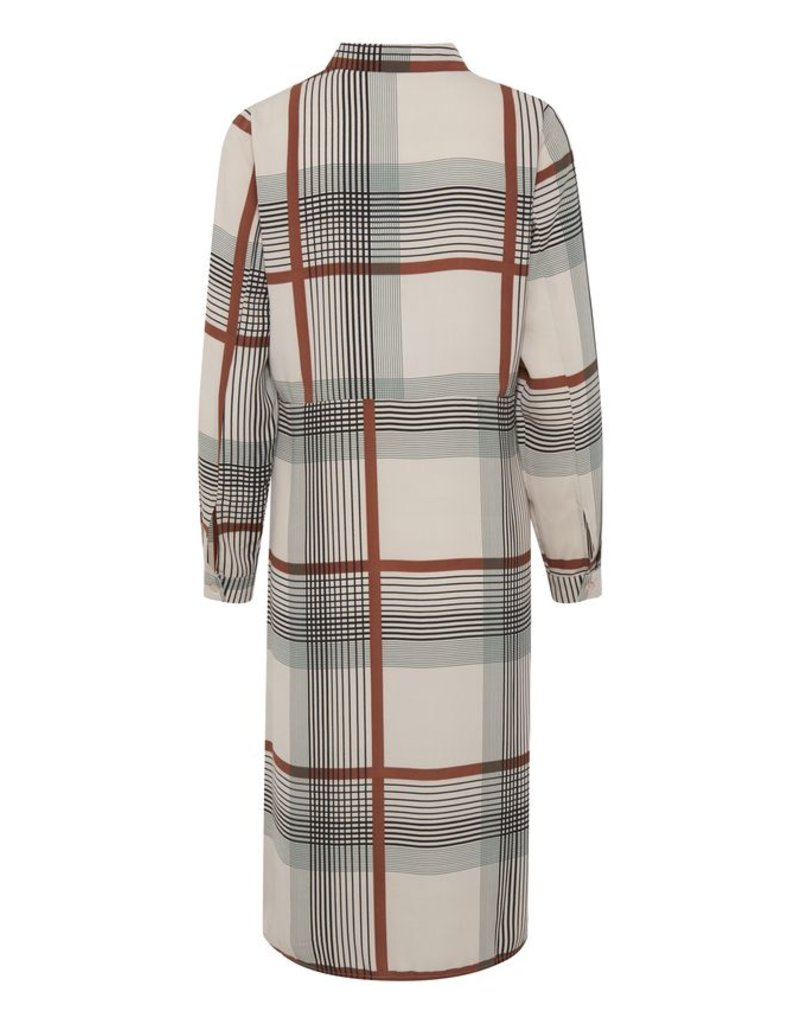 ICHI Nassa Check Shirt Dress