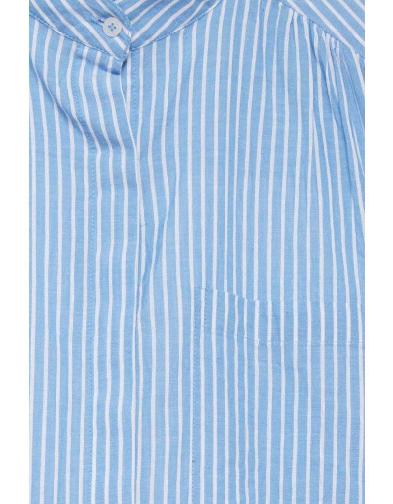 ICHI Azur Blue Caroline Shirt Dress
