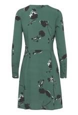 ICHI Ihbanks Green Floral Print Dress Dress