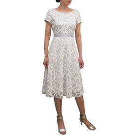 ea9ec45b3 Fee G Cap Sleeved Embroidered Overlay Dress