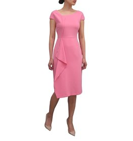 Fee G Drape Front Pink Dress