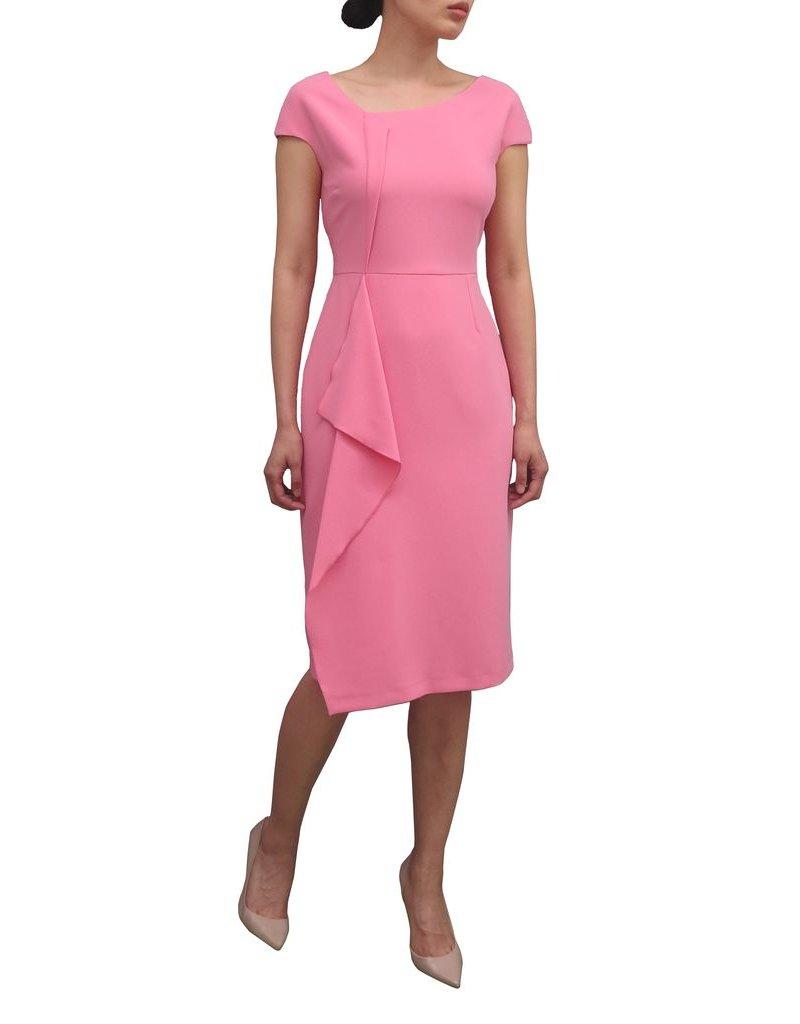 Fee G Drape Front Pink Dress