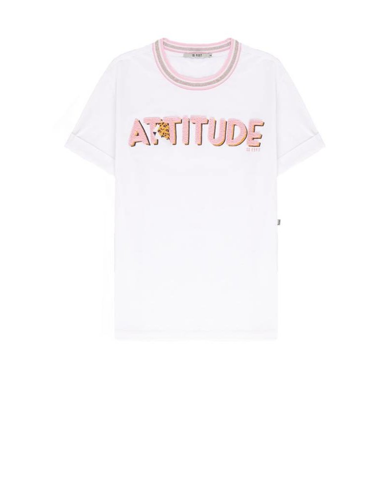 10 Feet Cotton T-Shirt with Attitude Embroidery