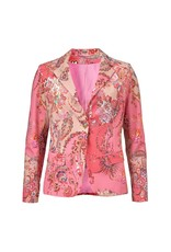 Gustav Denmark Paisley Pink Stetch Blazer