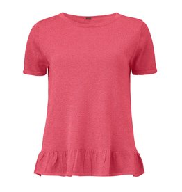 Gustav Denmark Lurex Short Sleeve Top with ruffle detail