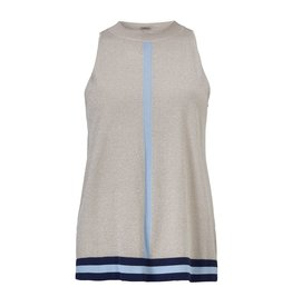 Gustav Denmark Silver Halterneck Lurex Knit with  Stripe Detail