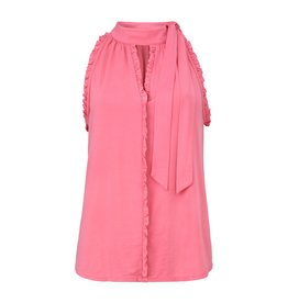 Gustav Denmark Pink Top with Ruffled Neck and Tie Detail