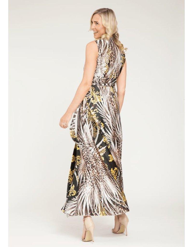 Peruzzi Long Print Dress