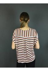 La Fee Maraboutee Stripe Linen Short Sleeved T-Shirt