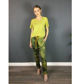 La Fee Maraboutee Swirl Print Drawstring Trousers