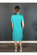 La Fee Maraboutee Short Sleeved Linen Dress